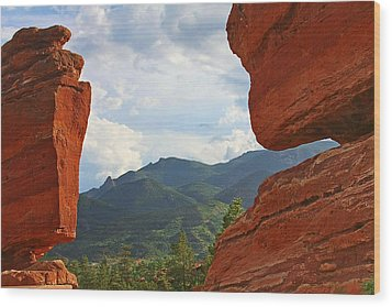 Garden Of The Gods - Colorado Springs Wood Print by Christine Till
