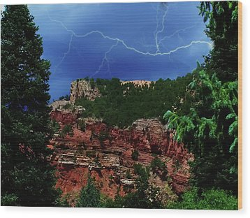 Wood Print featuring the digital art Garden Of The Gods by Chris Flees