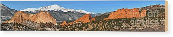 Wood Print featuring the photograph Garden Of The Gods Extended Panorama by Adam Jewell