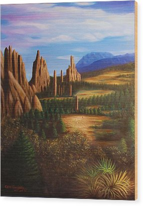 Garden Of The Gods.  Wood Print by Gene Gregory
