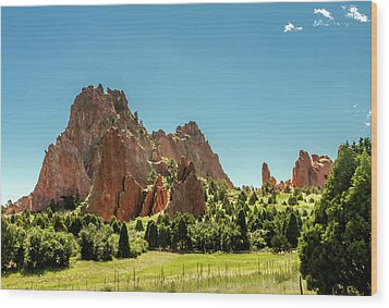 Wood Print featuring the photograph Garden Of The Gods II by Bill Gallagher