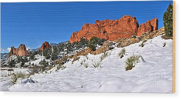 Wood Print featuring the photograph Garden Of The Gods Red And White by Adam Jewell