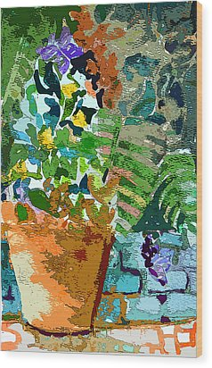 Garden Party Wood Print by Mindy Newman