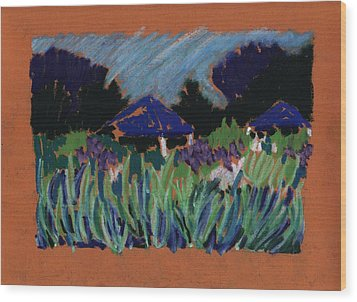 Garden Party Wood Print by Rodger Ellingson