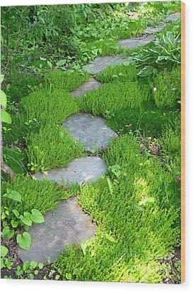 Garden Path Wood Print by Idaho Scenic Images Linda Lantzy