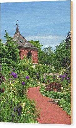 Garden Path Wood Print by Trey Foerster
