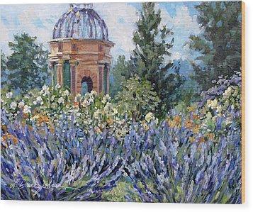 Garden Profusion - Lavendar Wood Print by L Diane Johnson