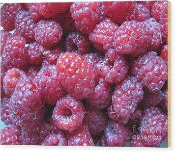 Wood Print featuring the photograph Garden Rasberries by Judy Via-Wolff
