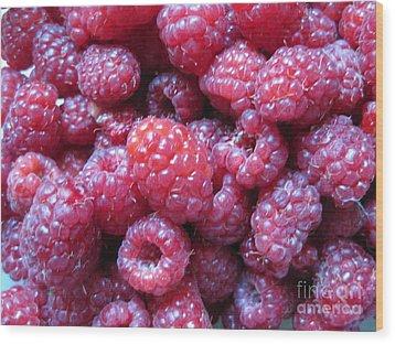 Garden Rasberries Wood Print by Judy Via-Wolff