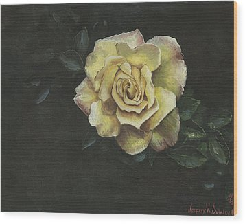 Garden Rose Wood Print by Jeff Brimley