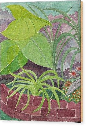 Garden Scene 9-21-10 Wood Print by Fred Jinkins