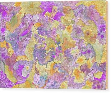 Garden #ss16dw021 Wood Print by Satomi Sugimoto