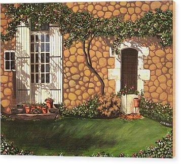 Garden Wall Wood Print