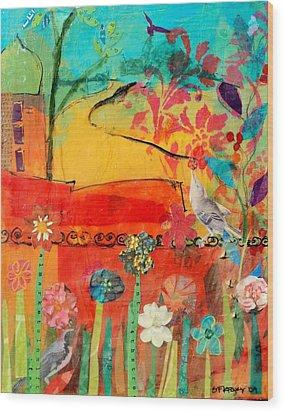 Garden Walls Wood Print by Suzanne Kfoury