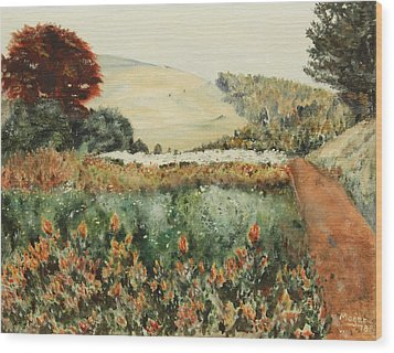 Gardens At Monticello Wood Print