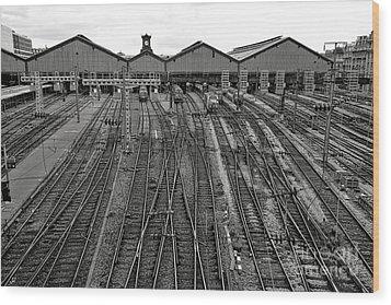 Gare Saint Lazare Wood Print by Olivier Le Queinec