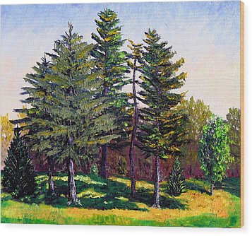 Garfield Trees Wood Print by Stan Hamilton