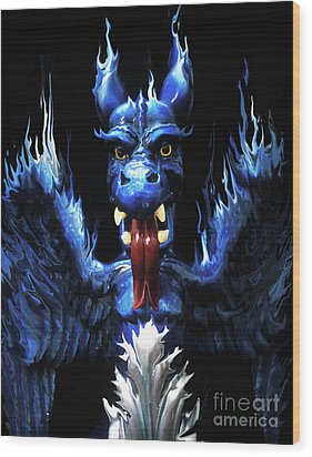 Wood Print featuring the photograph Gargoyle by Jim and Emily Bush