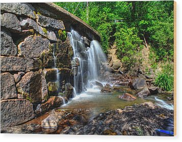 Wood Print featuring the photograph Garland Falls I by Greg DeBeck
