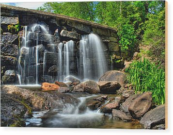 Wood Print featuring the photograph Garland Falls II by Greg DeBeck