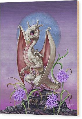 Wood Print featuring the digital art Garlic Dragon by Stanley Morrison