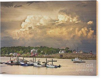 Garrison Cove Thunderstorm Wood Print by Benjamin Williamson