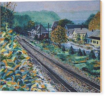 Garrison Station Wood Print by Ralph Papa