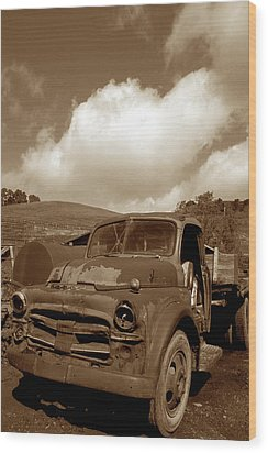 Garrod's Old Truck 2 Wood Print by Kathy Yates
