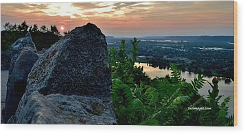 Garvin Heights Sunset Wood Print