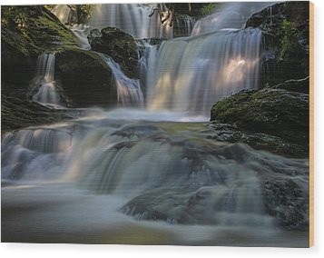 Wood Print featuring the photograph Garwin Falls  by Juergen Roth