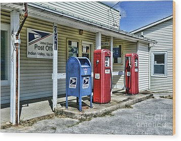 Gas And Mail Wood Print by Paul Ward