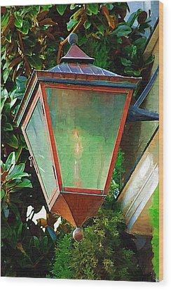 Gas Lantern Wood Print by Donna Bentley