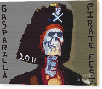 Gasparilla Pirate Fest Poster Wood Print by David Lee Thompson