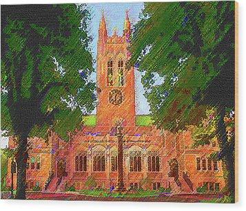 Gasson Hall  Wood Print