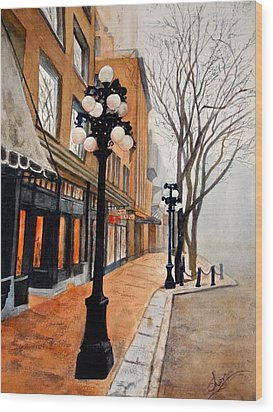 Gastown, Vancouver Wood Print by Sher Nasser