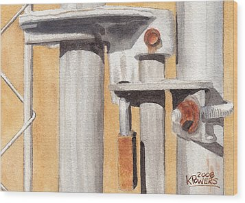 Gate Lock Wood Print by Ken Powers