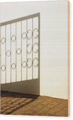 Gate Shadow Wood Print
