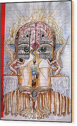 Gates Of Self-knowledge Wood Print by Paulo Zerbato