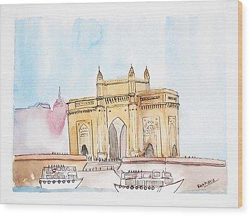 Gateway Of India Wood Print