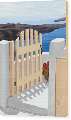 Gateway To The Sea - Prints From My Original Oil Painting Wood Print