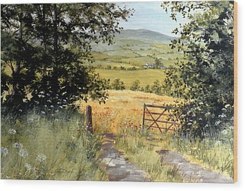 Gateway To The Vale Wood Print by Stuart Parnell