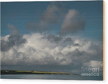 Gathering Clouds Wood Print by Marion Galt