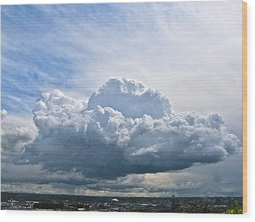 Gathering Storm Wood Print by Sean Griffin
