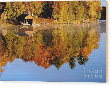 Gatineau Park Taylor Lake Wood Print