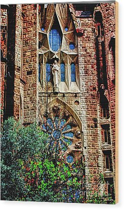 Gaudi Barcelona Wood Print by Tom Prendergast