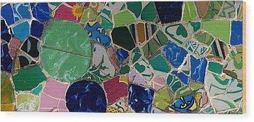 Gaudi Wood Print by Peter Verdnik