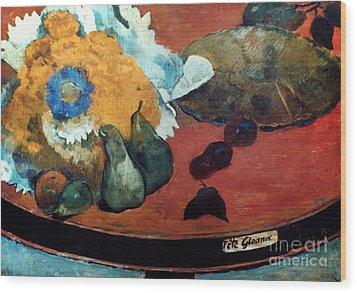 Gauguin: Fete Gloanec, 1888 Wood Print by Granger