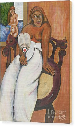 Gauguin Foregrounded Wood Print by Neil Trapp