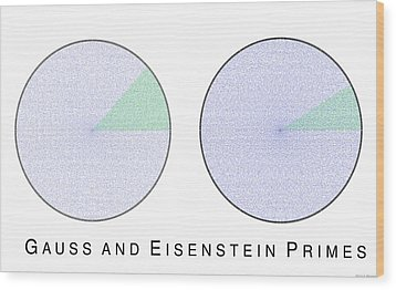 Gauss And Eisenstein Primes Wood Print by Martin Weissman