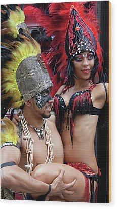 Gay Pride 6 26 11 Dancers Wood Print by Robert Ullmann